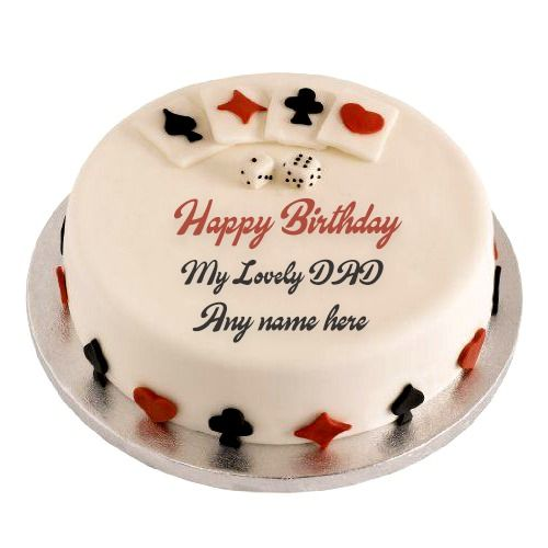 Write Your Father Name On Beautiful Birthday Cake Images Father