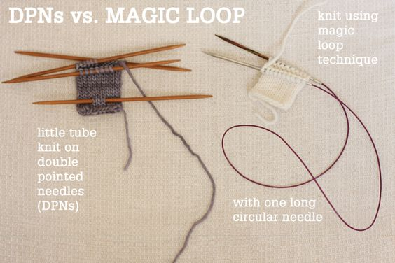 Magic Loop Knitting : Magic loop technique how to knit in the round using a