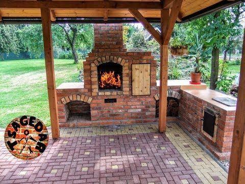Zahradni Krb S Udirnou Stavba Diy Building Outdoor Fireplace With Smoker And Grill Youtube Diy Outdoor Fireplace Brick Bbq Outdoor Fireplace Brick