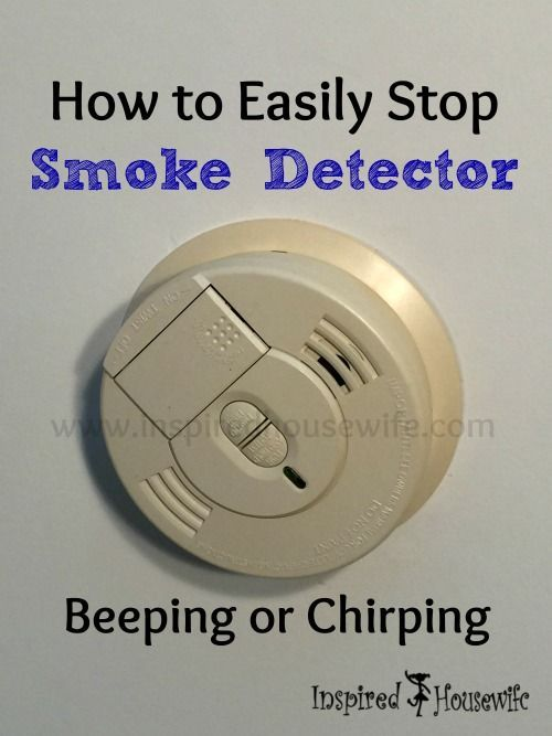 How To Easily Stop Smoke Detector Beeping Or Chirping Smoke