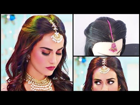 Maang Tikka Setting For Every Hairstyle Surbhi Jyoti Hairstyle In Nagin3 Mang Tikka Hairstyles Hairstyle Hair Styles Indian Hairstyles Hair Down Styles