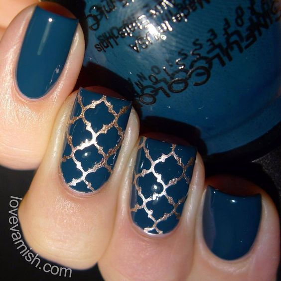 Gorgeous nails by @lovevarnish using Whats Up Nails moroccan stencils from WhatsUpNails.com (link in bio). Shipping worldwide! In our store whatsupnails.com you can get: · Whats Up Nails vinyl tape, stickers and stencils · Pure Color brushes, dotting and watermarble tools · Milv water decals · NCLA nail wraps · Mont Bleu glass files and tweezers · Liquid nail tape (purple stuff) Liquid Palisade by Kiesque · Daily Charme nail charms, studs and ring palette · Swarovski crystals · Crystal…