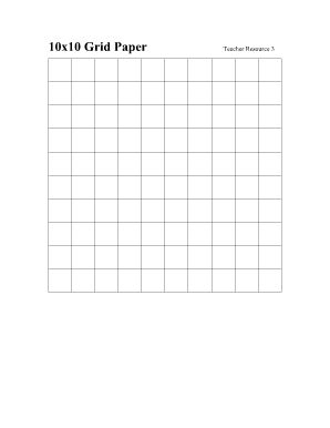 Blank Graph Paper 10x10 Grid Paper Free Printable Letters