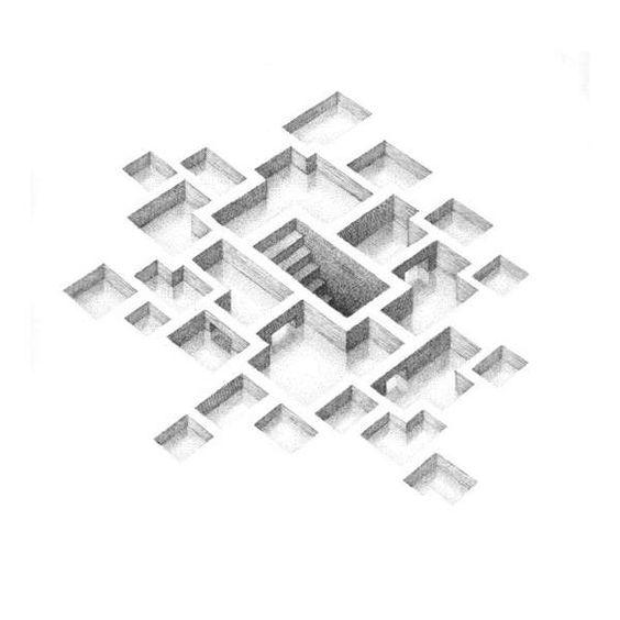 Mind-Bending Maze Drawings  Mathew Borrett Renders Surreal Beehive-Like Labyrinths: