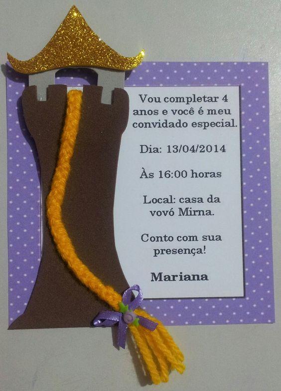 Convite+festa+Rapunzel+em+eva.
