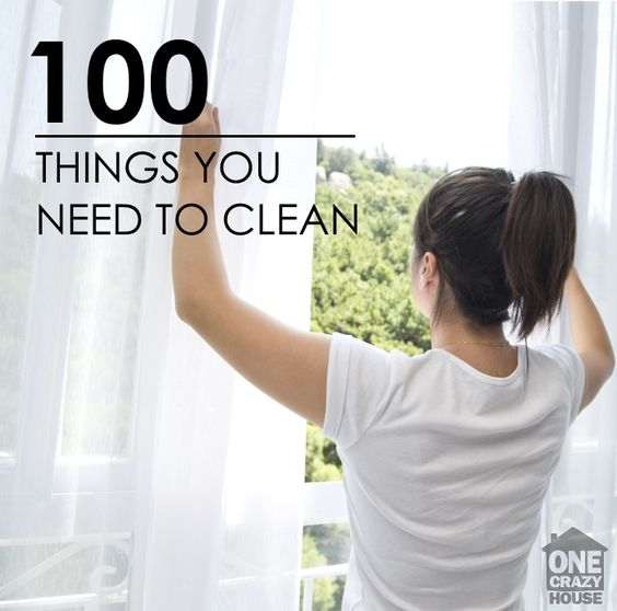 Do you ever get overwhelmed when you are cleaning? Here are 100 things that you can clean, and need to clean.   Results Home Buyers    