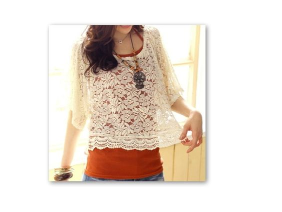 LACE (net) BLOUSE   Product Code- CC 09  Size- Regular  Measurements- Length- 53 cm; Bust- 90 cm; Sleeve- 33 cm  Price- Rs. 1050 plus delivery charges    For Bookings and more information, please mail caramelcollectives@gmail.com