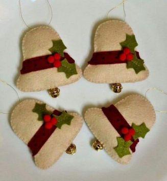 Decorazioni Natalizie Low Cost.Idee Natalizie Handsmade Low Cost E Eco Friendly Ornamenti In Feltro Ornamenti Di Natale Fai Da Te Natale Artigianato