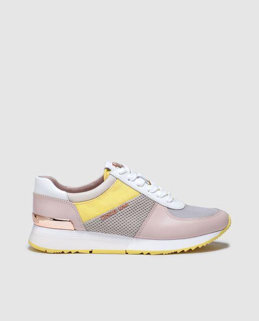 Zapatillas de deporte de nailon satinado en rosa Cortez de