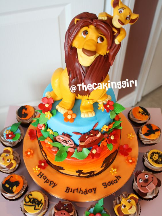 Edible Cake Images Lion King : Simba baby shower, Edible cake toppers and Edible cake on ...