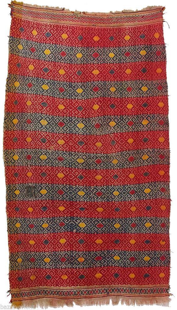 215x125 cm orient Teppich Nomaden bauern sumakh kelim afghan Beloch kilim Nr-842