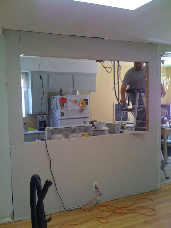 Knocking out a wall to install a bar my fifties kitchen for I want to redo my kitchen