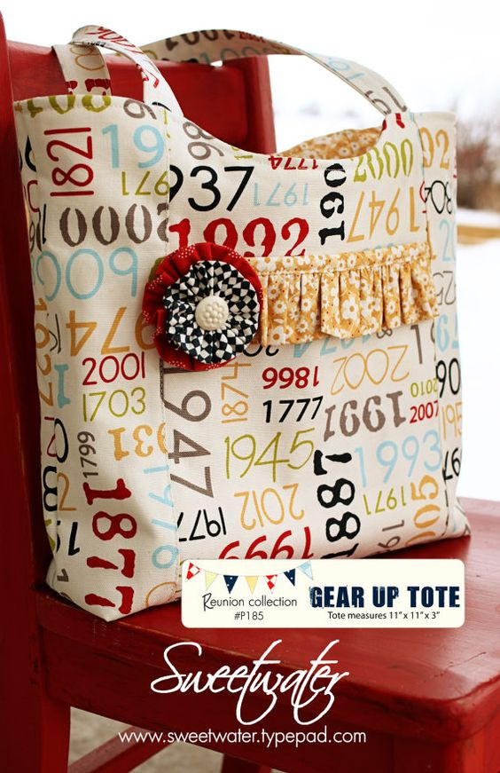 Gear Up Tote Bag pattern