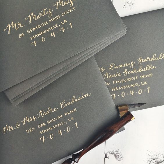 Adressage enveloppe minimal Invitations de mariage par LoveSupplyCo
