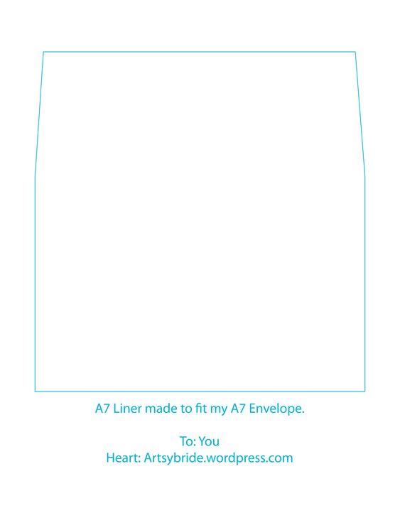 A7 Envelope Liner\/Envelope Template\/DIY by PaperAndStyleCo on Etsy - a7 envelope template