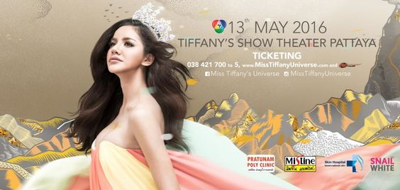 "Miss Tiffany's Universe 2016 Debuts Poy Treechada as its Creator under the theme ""Awe-Inspiring Individuality"" to be held May 13, 2016 in Pattaya, Thailand."