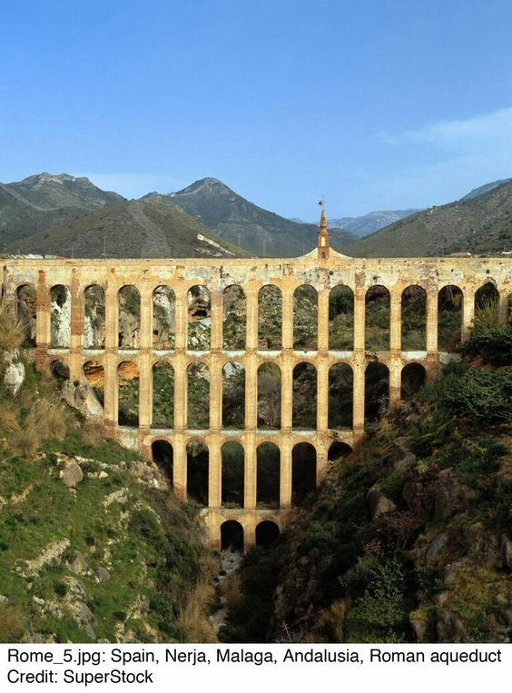 Aquaducto Romano Nerja Malaga Andalucía España Ancient Roman Architecture Roman Aqueduct Roman Architecture