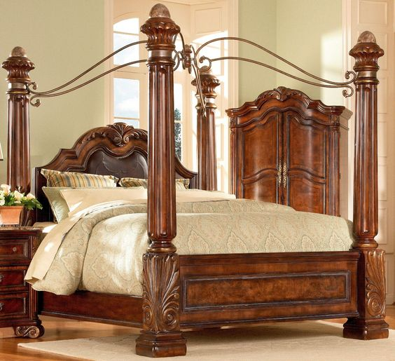 bedroom sets regal queen size bedroom set. regal sleigh bedroom ...