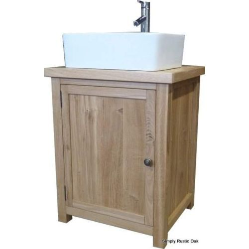 Rustic Oak Freestanding Washstand With