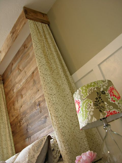 Diy floor to ceiling headboard with curtains and cornice - Floor to ceiling headboard ...