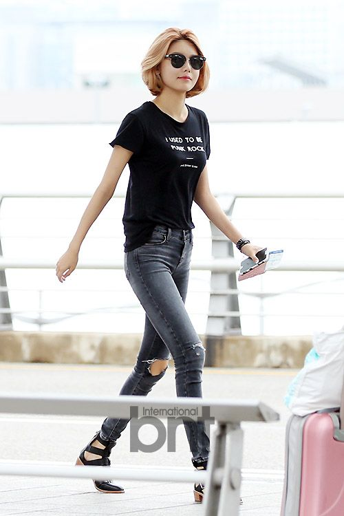 snsd sooyoung airport fashion 150725 2015 snsd airport