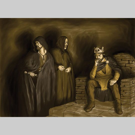 macbeths murders Of macbeth many times in the scene, and the name of old siward twice, and we   derer, is macbeth's agent in the murder of macduff's family, and then, seeing.
