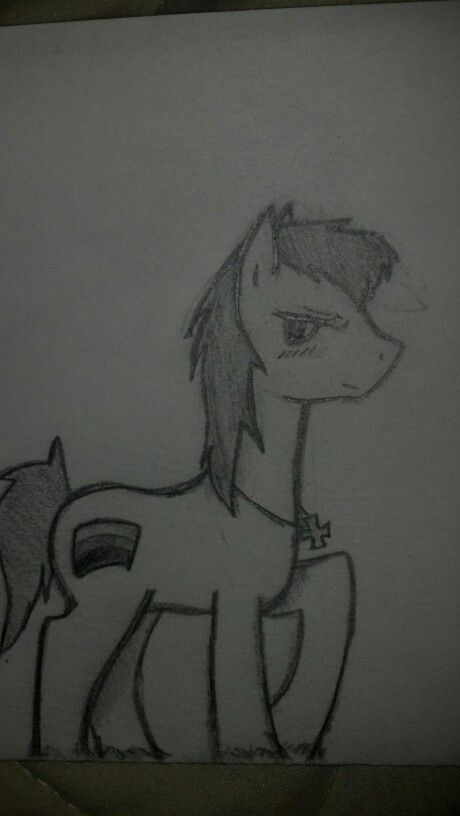 MLP and Axis Powers Hetalia crossover- Germany :3 drawn by me