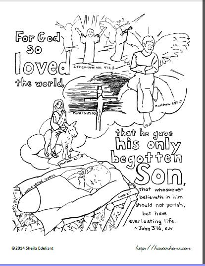 kjv bible verse coloring pages - photo#17