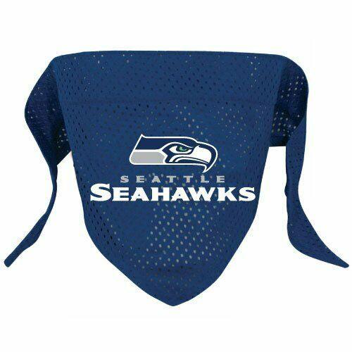Seattle Seahawks Dog Cat Bandana Over Collar Large