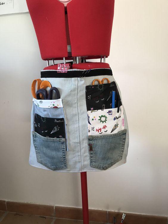 Je Passe Mon Temps A Recycler Un Jean En Tablier De Couture