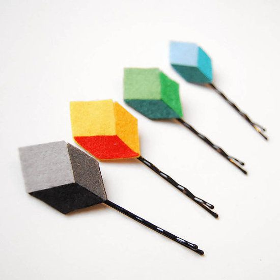 Pixel Bobby Pins (set of four, $15)