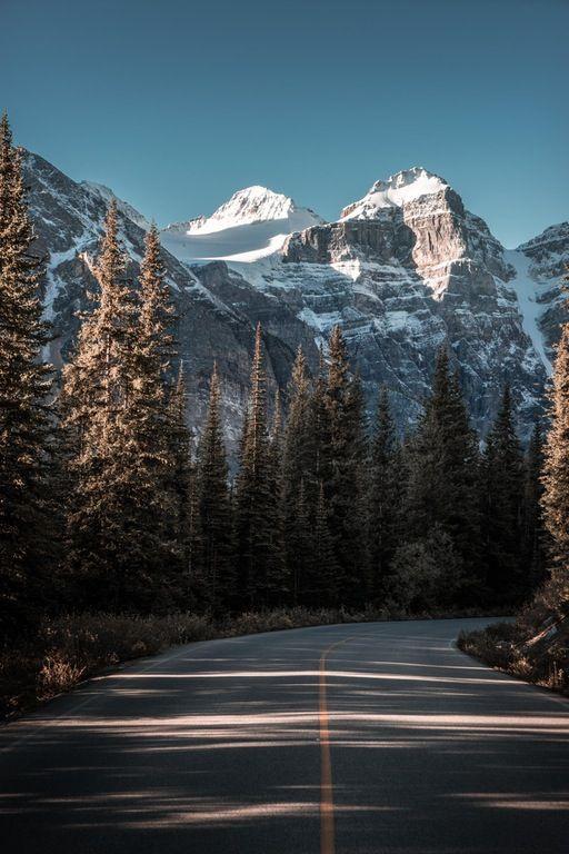Moraine Lake Road, Alberta, Canada [OC][3200x4800] : RoadPorn