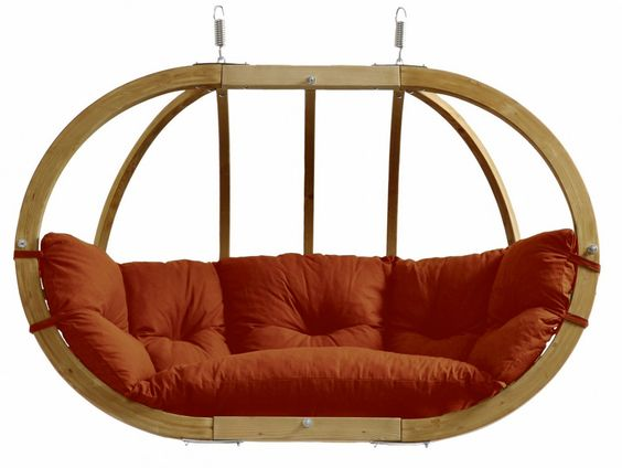 Balancelle ovale Terracotta - Bois d'épicéa
