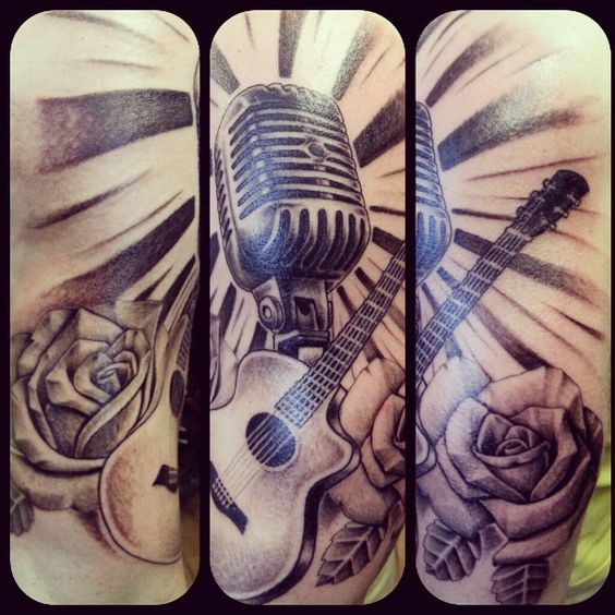 Tattoo Designs Related To Music: Love This. Photo By 4dptattoos. For More Guitar Related