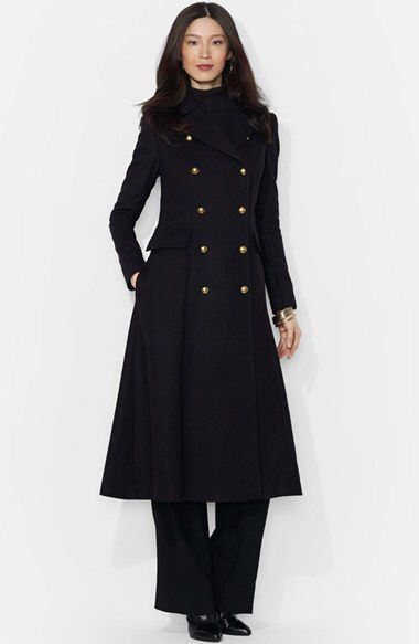 Lauren Ralph Lauren Lauren Ralph Lauren Wool Blend Military Maxi Coat available at #Nordstrom