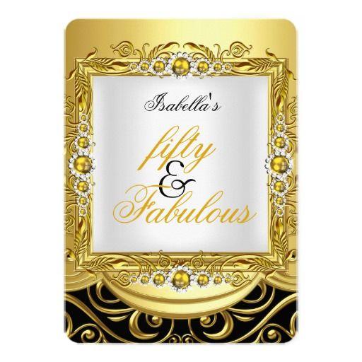 Fabulous 50 Yellow Gold Pearls Gold Damask Black