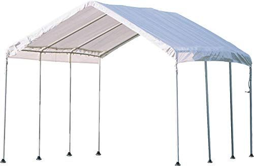 New Shelterlogic 10 X 20 Maxap Canopy Series Compact Outdoor Easy To Assemble Steel Metal Frame Canopy With 50 Upf Sun Protect With Images Car Canopy Canopy Steel Metal