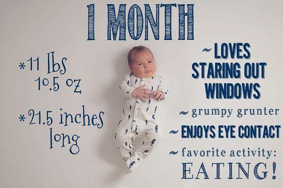 Ideias de fotos para registrar o desenvolvimento do bebê! - Just Real Moms: