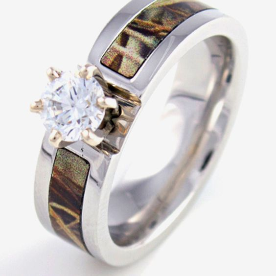 pink camo wedding rings for her orange blossom diamond wedding - Pink Camo Wedding Rings For Her