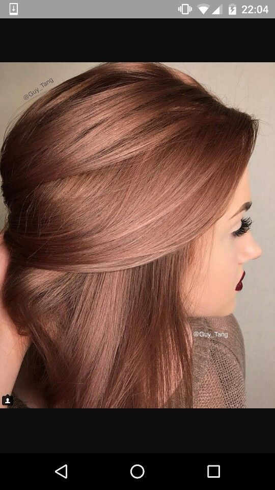 Dark Rose Gold Hair Color Hair Is My Canvas