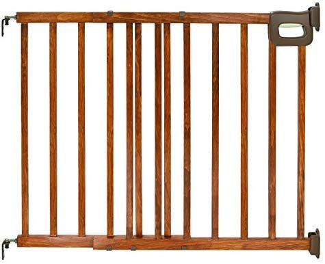 Amazon Com Summer Deluxe Stairway Simple To Secure Wood Gate 30 48 Inch Wide Baby Wood Gate Wooden Baby Gates Baby Gates