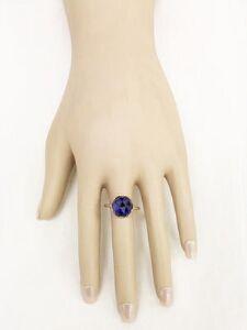 Rose Cut Lapis Ring