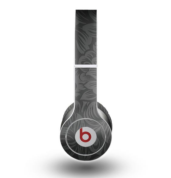 The Black & Gray Dark Lace Floral Skin for the Beats by Dre Original Solo-Solo HD Headphones