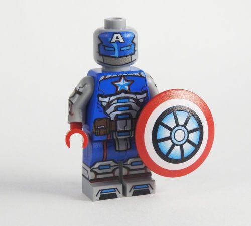 Marvel Avengers Iron Man Red Snapper Civil War Custom Lego Mini Figure Superhero