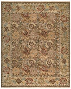 Lodi Garden Floral rug in Bronze from #CapelRugs