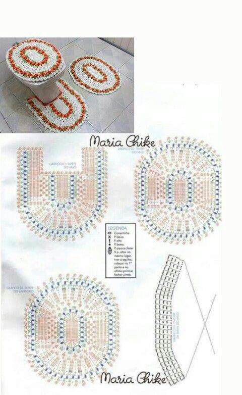 Juego De Ba 241 O A Ganchillo Patrones Gr 225 Ficos A Crochet