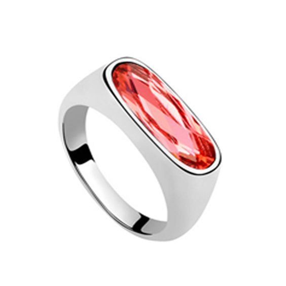 Bauhaus - Swarovski Crystal White Gold Ring