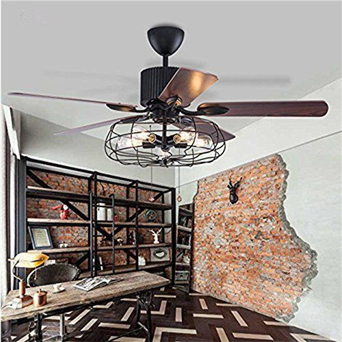 Fandian 52 Vintage Ceiling Fan With Lights Industrial Chandelier
