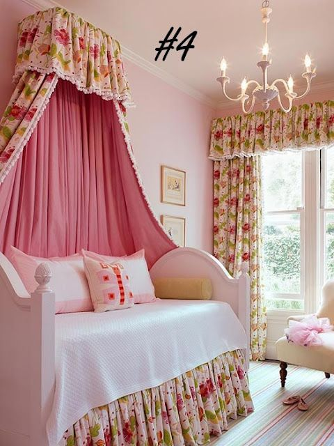 A Canopy Bed for a Princess! | Designed to a Tea. Just love it!!!