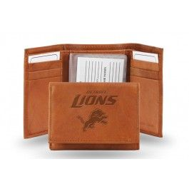 Detroit Lions Embossed Leather Trifold/Wallet